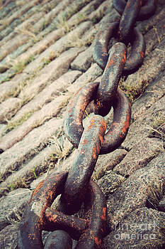 Anchor Chain on the Mississippi by Melina Geil