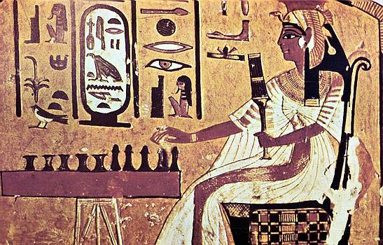 Ancient Egyptian Queen Nefetari Playing Senat by Photos.com