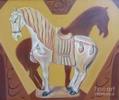 Ancient horse sculpture by Ziba Bastani