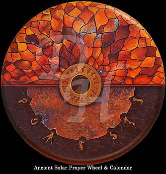 Ancient Solar Disc Prayer Wheel by David Hessler