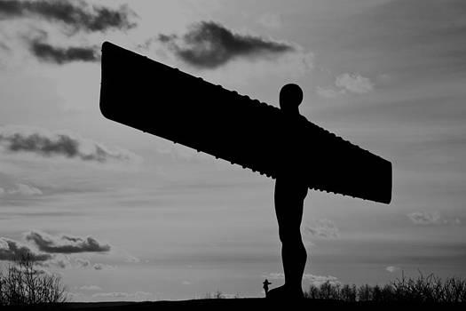 David Pringle - Angel of the North Monochrome