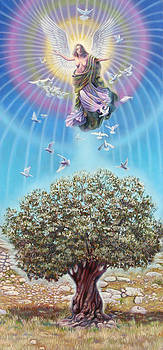Angel over the olive tree by Miguel Tio