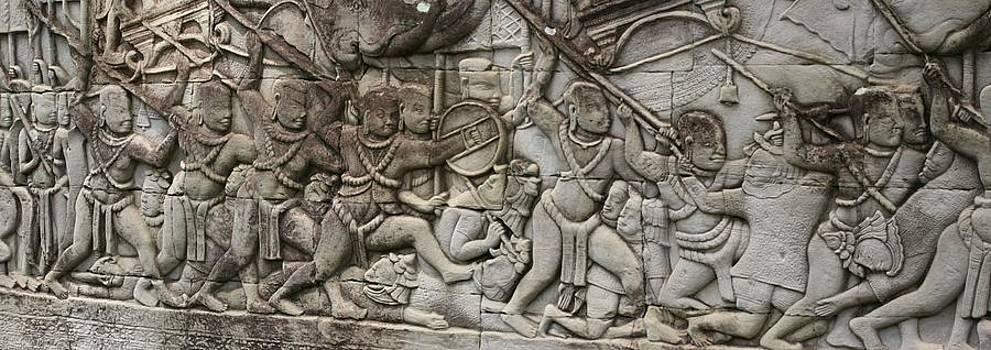 Angkor Wat - war scene by Andrei Fried
