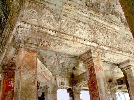 Roy Foos - Angkor Wat Intricate Ceiling Stonework