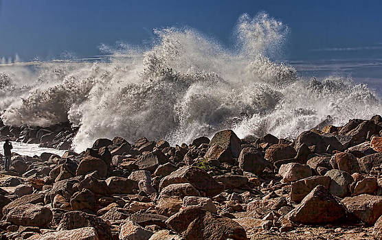 Angry Ocean on a Clear Day by Mark Gilmore