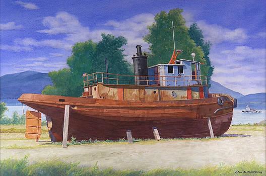Antiquated Hudson River Tug by Glen Heberling