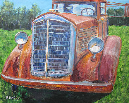 Antique Brockway Truck Portrait by Kathryn Barry