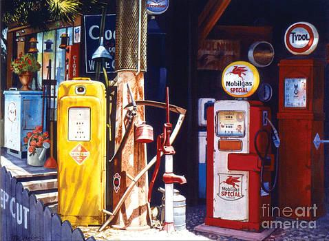 Antique Gas Pumps by Phil Hopkins