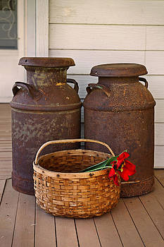 Carmen Del Valle - Antique Milk Cans