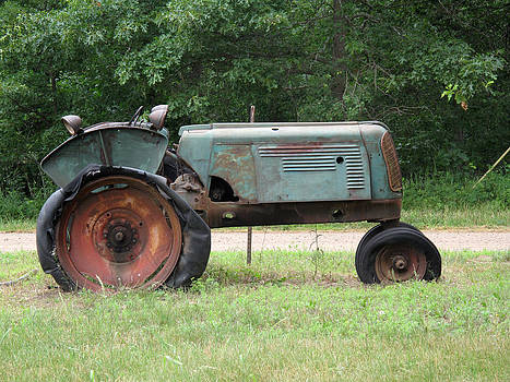 Antique Tractor by Suz Anne Wipperling