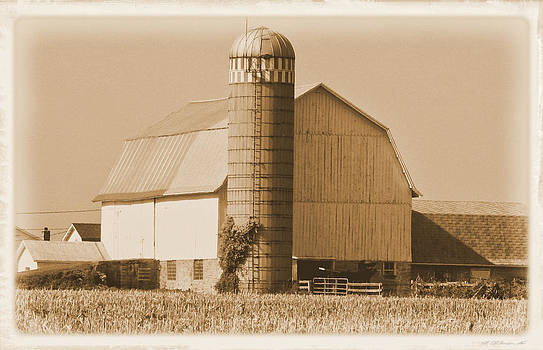 Antiqued White Barn by Victoria Sheldon