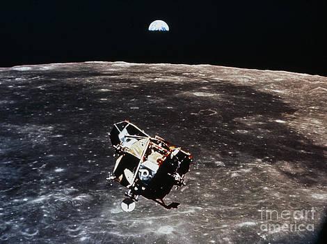 NASA Science Source - Apollo 11 Photo Of Lunar Module Ascent