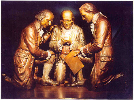 Appeal to Divine Providence - The Founding Fathers bronze sculpture by Stan Watts by Stan Watts