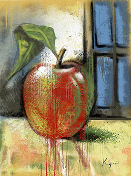 Apple And Window by Alexandros Koumpios