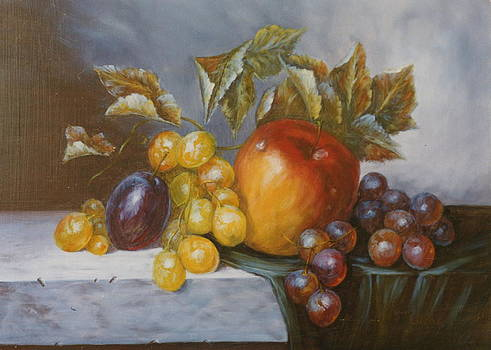 Apple composition 2 by Erika Lukacs