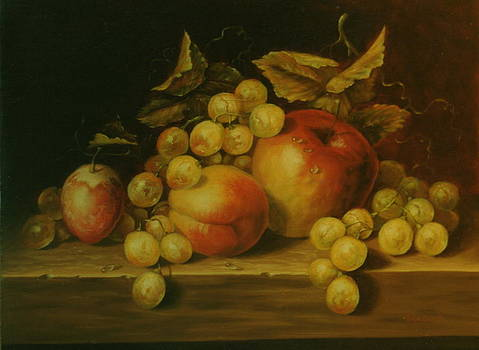 Apple composition by Erika Lukacs