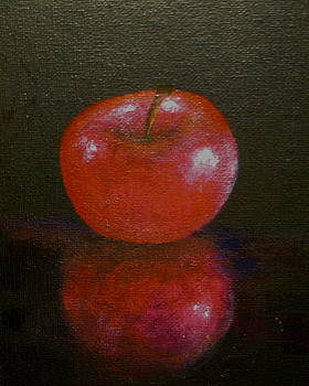 Apple With Reflection by Jim  Romeo