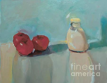 Apples and Milk Pitcher by Nancy Blum