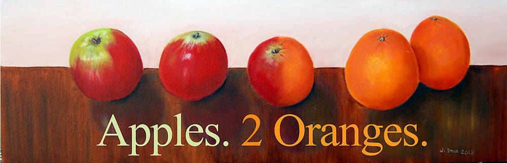 Apples To Oranges Poster by John Small and Paul Carr