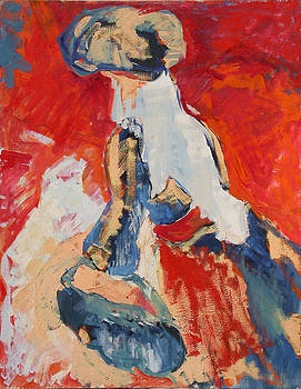 Arab woman by Haim Avraham