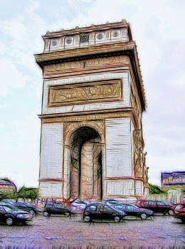 Arc de Triomphe Paris  by Rod  Arroyo