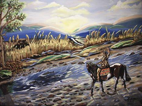 Arrow Fishing by Miriam Sage
