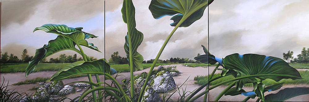 Arroyo Triptych by Pamela Mower-Conner