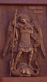 Art Icon of St. Archangel Michael by Goran