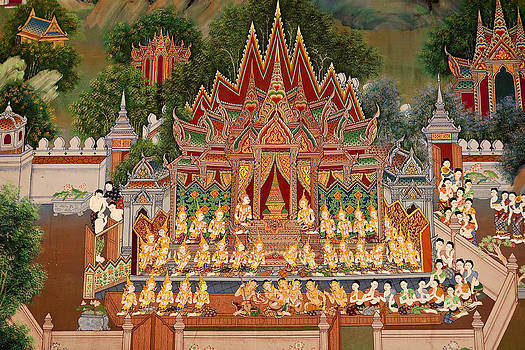 Art In Temple Thailand by Chatchawin Jampapha