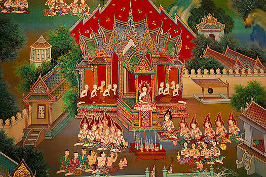 Art In Thai Temple by Chatchawin Jampapha