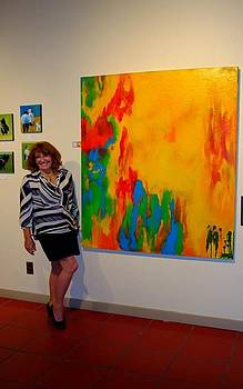 Art show at '57 Degrees' San Diego by Bebe Brookman