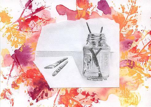 Artist's Desktop by Sara Alexander Munoz