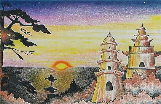 Asian Temples by Kimberlee  Ketterman Edgar