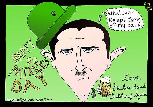 Assad St. Patrick's Day Greeting Card by Yasha Harari