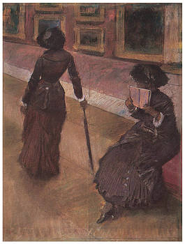 Edgar Degas - At the Louvre