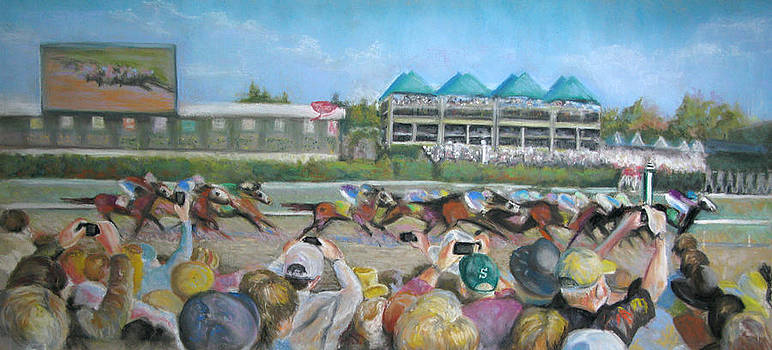 At the Races by Carole Haslock