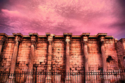 Athens - The Library of Hadrian by Hristo Hristov