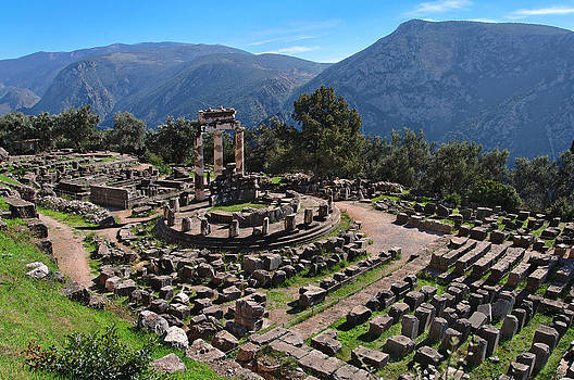 Athina Pronaia Temple-Delphi by Stamatis Gr