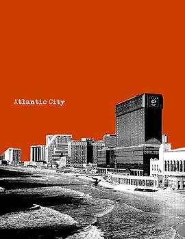 Atlantic City NJ New Jersey - Pop Art - Copper red by Bao Studio
