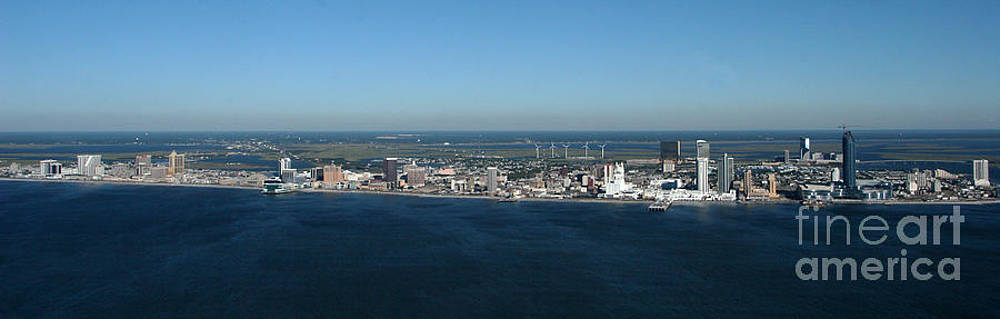 Atlantic City Skyline Panoramic by George Miller