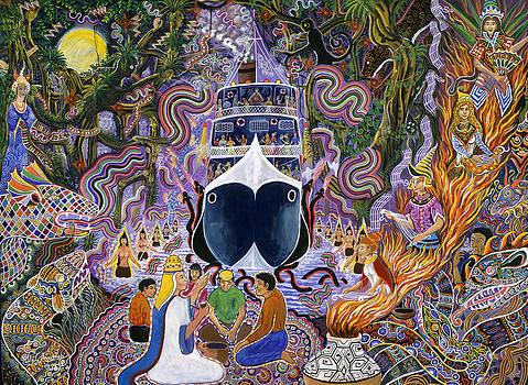 Atun Supay Lancha by Pablo Amaringo