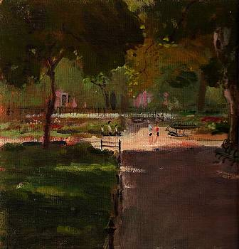 August in Stuyvesant Square by Peter Salwen