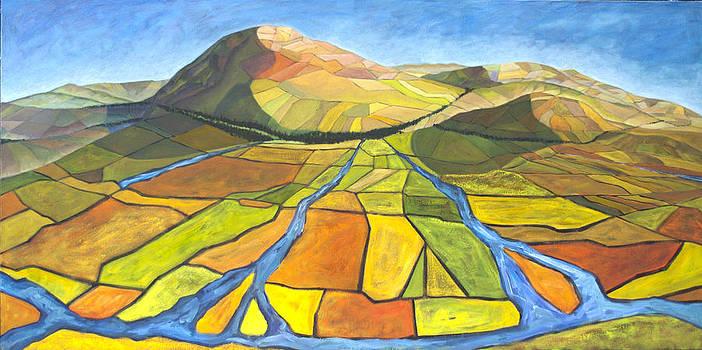 Austrian Landscape by AnneKarin Glass