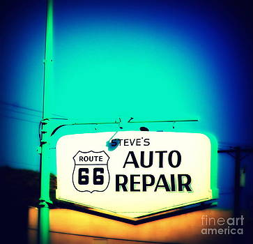 Susanne Van Hulst - Auto Repair Sign on Route 66