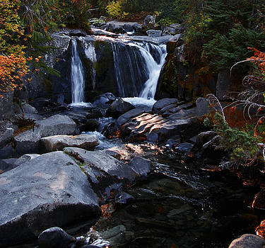 Autumn Alpine Waterfall by Christine Burdine