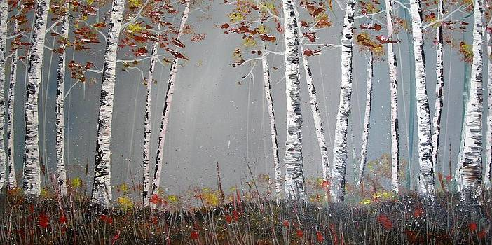 Autumn Aspens by Trudy Kepke