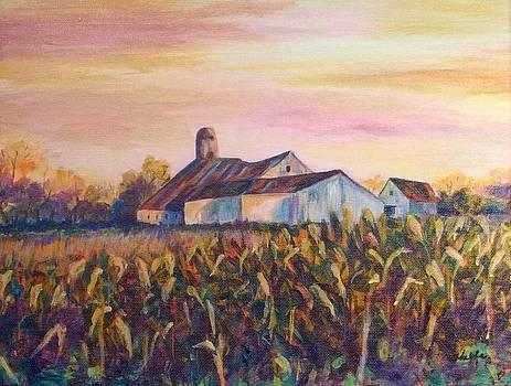 Autumn Barn by Carol Kable