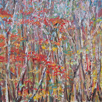 Autumn Birch by Linda Woolven