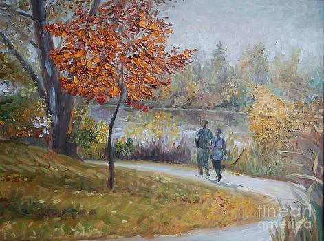 Autumn day on Mill Pond by Efim Melnik
