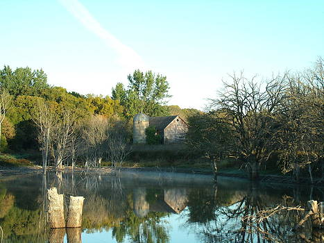 Autumn Farm at Dawn by Brian  Maloney